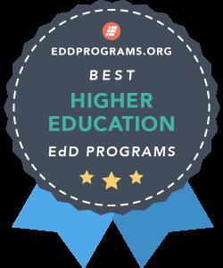Rankings Badge for EdD in Higher Education Programs